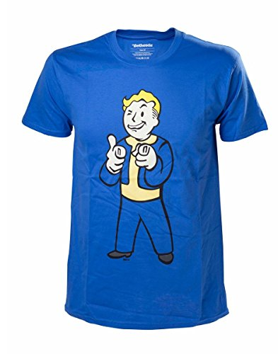 Fallout 4 T-Shirt -XL- Boy Shooting Fingers, blau
