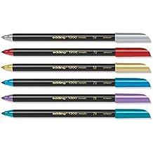 Edding 1200Metallic color, 1–3mm, punta redonda, Juego de 6
