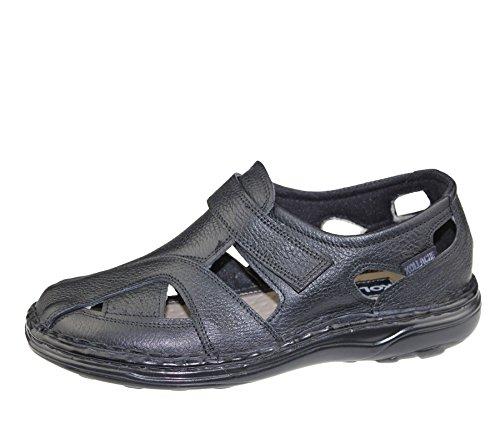 Hommes Velcro Sandales Marcher Mode Casual Summer Beach Slipper Chaussures en cuir Mild Black