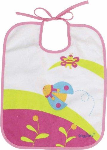 Imagen 1 de Playshoes 507195-613 - Babero, diseño de mariquita, 28 x 24 cm, color rosa
