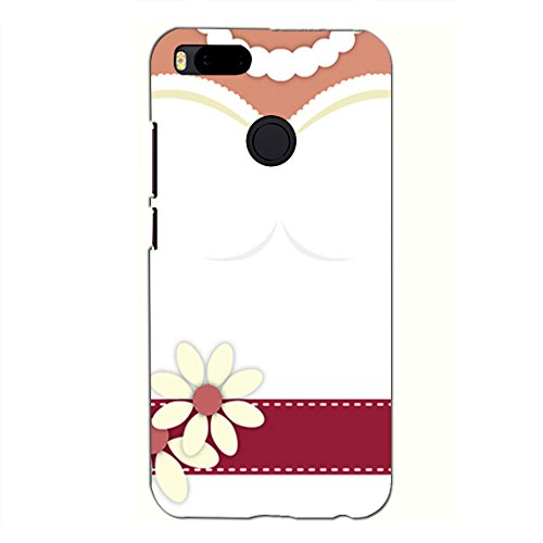 PrintVisa Designer Back Case Cover for Xiaomi Mi A1 (5X) :: Xiaomi Mi 5X (White Bridal Dress With Flowers)
