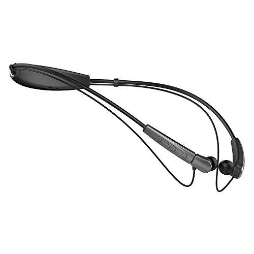 Cannice SC2102 W2 Bluetooth Kopfhörer In Ear | Kabellose 4.1 Sport Kopfhörer Stereo mit Nackenbügel | 10m Reichweite, Ultra leicht, wasserabweisend, grau