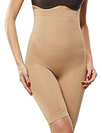 6350889928 GLAMORAS Women s High Waist Tummy Control Mid Thigh Short Thigh Slimmer  Under Dress Boyshorts Panty Shapewear