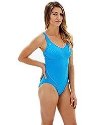 Aqua Sphere–Bañador para mujer Chloe, mujer, color Azul - Turquoise/Coral, tamaño 42