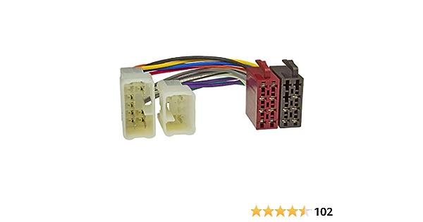 Radio Adaptor Cable For Daihatsu Toyota 16pin To Iso Elektronik