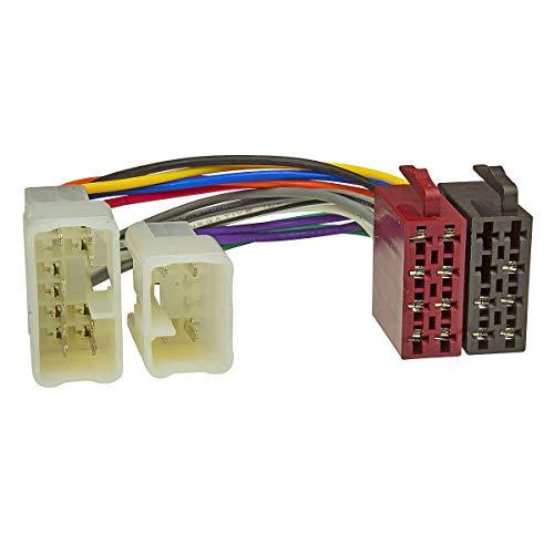 tomzz Audio 7055-000 Radio Adapter Kabel passend für Daihatsu, Subaru, Toyota auf 16pol ISO Norm