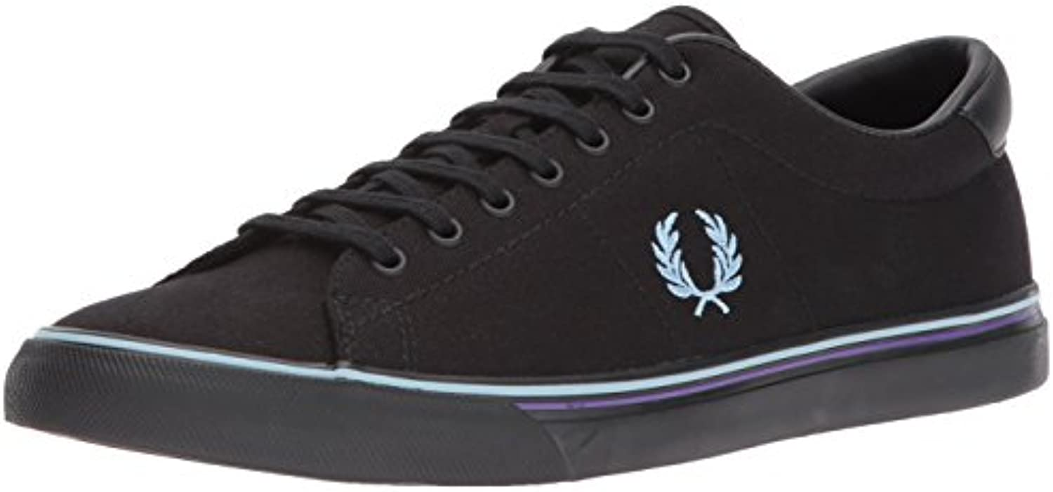 Fred Perry Underspin Canvas Black Blue Skin B9090102  Turnschuhe