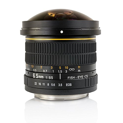 Great Buy for Opteka 6.5mm f/3.5 HD Aspherical Fisheye Lens with Care Kit for Canon EOS 70D, 60D, 60Da, 50D, 40D, 7D, 6D, 5D, 5Ds, 1Ds, Rebel T6s, T6i, T5i, T5, T4i, T3i, T3, T2i and SL1 Digital SLR Cameras Discount