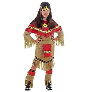 WIDMANN RAY Disfraz de indio del salvaje oeste para niña, talla 11-13 años (36668)