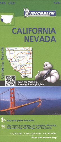Michelin USA California, Nevada Map 174 (Michelin Zoom USA Maps) por Michelin