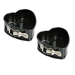 Idea Regalo - Kaiser 658346 - Set di 2 stampi da forno a forma di cuore