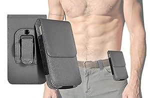 Samsung I9506Galaxy S4sportive classique meilleure Finitions solide Outdoor Housse ceinture Holster Sac Étui universel pour téléphones portables et smartphones Taille similaire, passant de Klip ou à ceinture ou à des pantalons taille Boucles de Kissi Moto 144x 76.9x 9.6mm dans gris