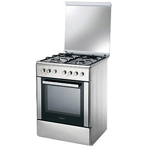Candy CCG6503PX – Cocina (Cocina independiente, Giratorio, Parte superior delantera, Encimera de gas, Acero inoxidable, A)