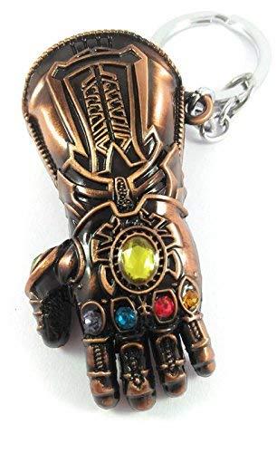 RJM Sales & Service Avengers Infinity War -3 New Series Thanos Gauntlet Power Stone Marvel Metal Keychain for Car Bike…