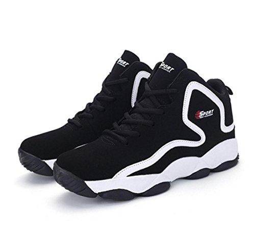 WZG Die neue Frühjahr Herrenmode High-Top-Basketballschuhe, Freizeitschuhe atmungsaktive Polsterung Schuhe paar Modelle Sportschuhe Black