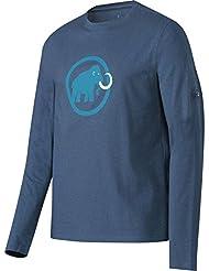 Mammut Wool–Camiseta logo, Unisex, Wall, marine, XL