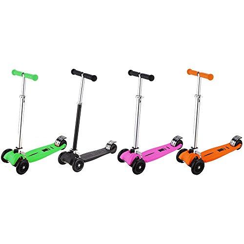 iScoot© Pro v2 Tilt Kickboard Mini T-Bar 3 Wheel Kick Scooter - Orange