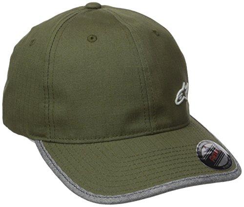 Alpinestars Herren Hat Und Beanie Point Logo Flexfit Flex Back Military Green