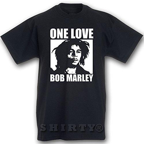 Bob Marley 3 - T Shirt - schwarz - S bis 5XL - 098 Schwarz