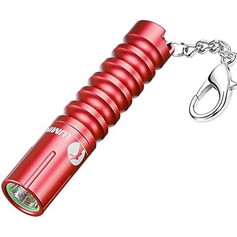 LUMINTOP WORM Piccolo potente LED AAA portachiavi torcia 80-110 lumen, 3 modalità, impermeabile, Miglior Super tasca luminosa della luce della torcia come regali: 10 colori, Cree vs Nichia LED opzionali, alluminio, acciaio, rame e ottone Disponibile