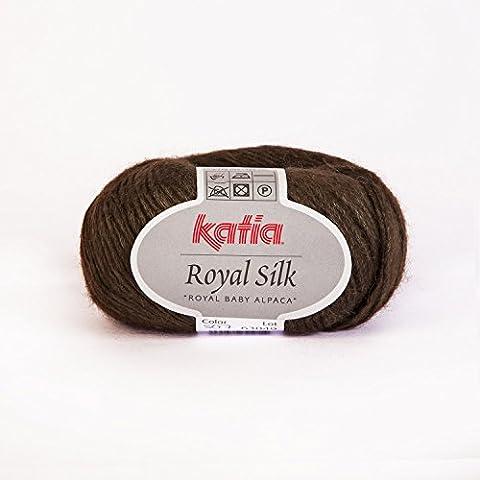 Royal Mélange Alpaga/soie, soie, fil de Katia Marron (507)