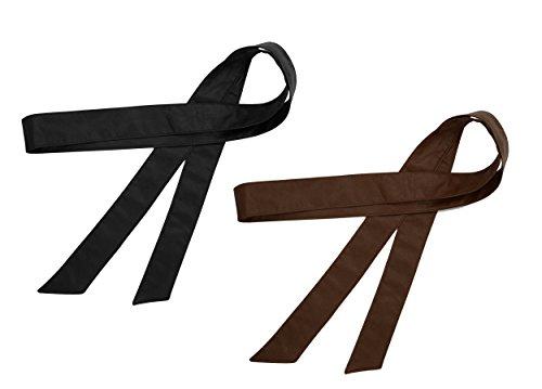 TY belt Damen Mädchen Obi PU Leder Gürtel Einfarbig Taillenband 70 Inch/172cm (schwarz kaffee)