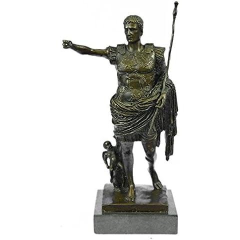 Escultura bronce estatua...Envío gratis...Julio César Romano Busto Militar Art Deco Guerrero(YRD-440-JP)Estatuas estatuilla estatuillas desnuda Oficina y Decoración del hogar Coleccionables Primer Día
