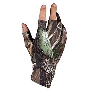 LIOOBO 1 Paar Fischerhandschuhe Fingerless Hunting Fishing Camo Gel Glove