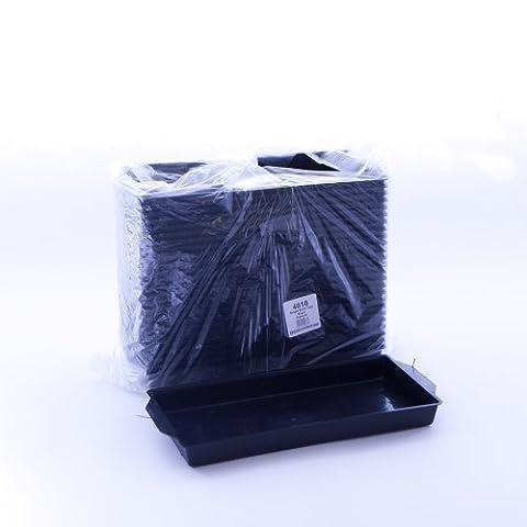OASIS® Noir Simple Brique Plateaux (pack de