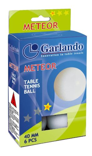 Garlando Meteor 6 Palline Ping Pong Bianche