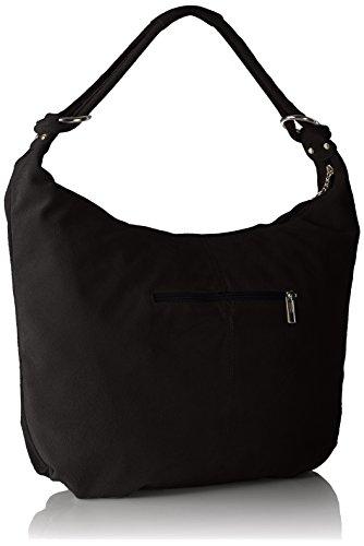 Bags4Less Damen Monaco Umhängetasche, 11x37x46 cm Schwarz (Schwarz)