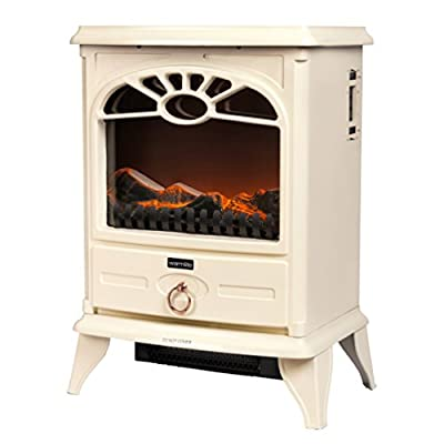 Warmlite WL46014BL/MOB Log Effect Stove Fire, 2000 W