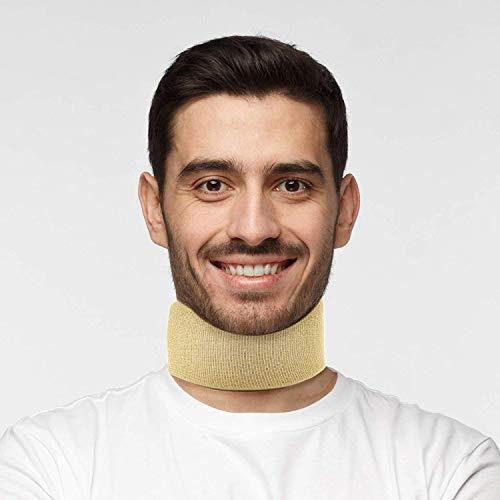 Actesso Halskrause Nackenstütze Klammer - Nackenbandage Kragen für Schleudertrauma, Schmerzunterstützung und Zervikale Arthritis (Klein)