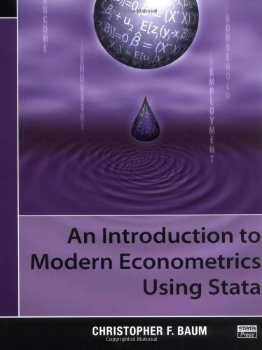 An Introduction to Modern Econometrics Using Stata 1st edition by Baum, Christopher F. (2006) Paperback