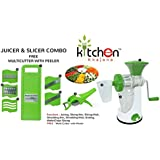 Kitchen Khajana™ Grand Juicer & 6 In 1 Slicer Combo + Free Multi Cutter With Peeler