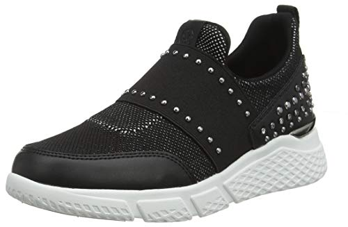 Guess Damen Namastia/Active Lady/Fabric Slip On Sneaker, Schwarz Black, 38 EU (Guess Schuh Für Frauen)