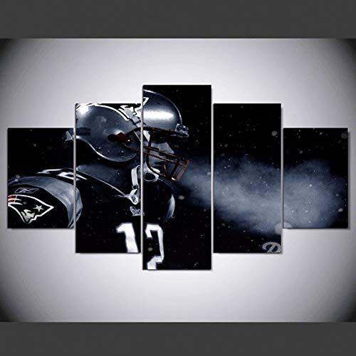 DAOKEHUASJ New England Patriot Fußballer Tom Brady Leinwand Poster Für Sport Fan Als Geburtstagsgeschenk Hd Leinwand Malerei Für Wohnkultur