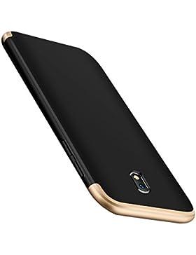 Funda Samsung Galaxy J3 2017 3-en-1 PC 360° Protectora Carcasa Ultra Delgado Choque Absorción Anti-Arañazos Caso...