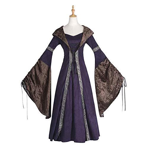 Kostüm Frau Cosplay Europäischen Und Amerikanischen Retro Gericht Prinzessin Kleid Langen Rock Halloween Ball Party Kostüm,Foto Farbe,M ()