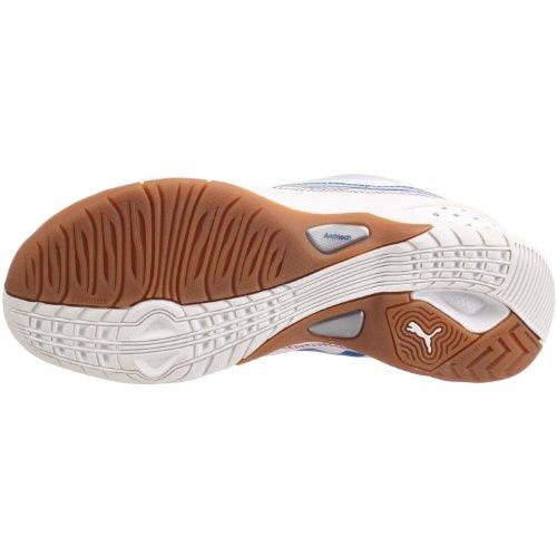 PUMA Vellum II Wn's 102065 Damen Sportschuhe - Indoor Weiss/White-Puma Silver-Pompeian Red