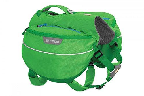 Ruffwear Wander-Rucksack für Hunde, Mittelgroße Hunderassen, Größenverstellbar, Größe: M, Grün (Meadow Green), Approach Pack, 50102-345M