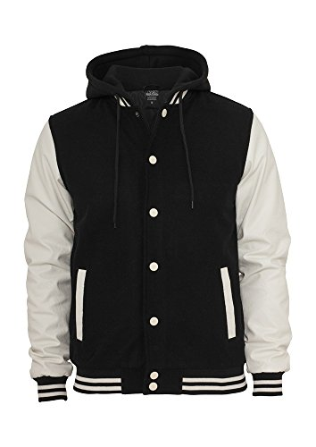 TB438 Hooded Oldschool College Jacket Herren Outdoor Jacke Kapuze