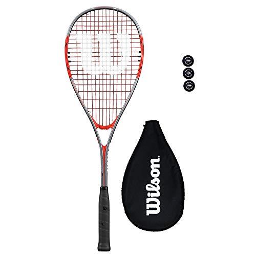 Wilson Impact Squashschläger + 3 Squash Bälle