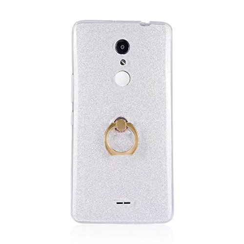 EKINHUI Case Cover Soft Flexible TPU Back Cover Case Shockproof Schutzhülle mit Bling Glitter Sparkles und Kickstand für Alcatel A3XL ( Color : Blue ) White
