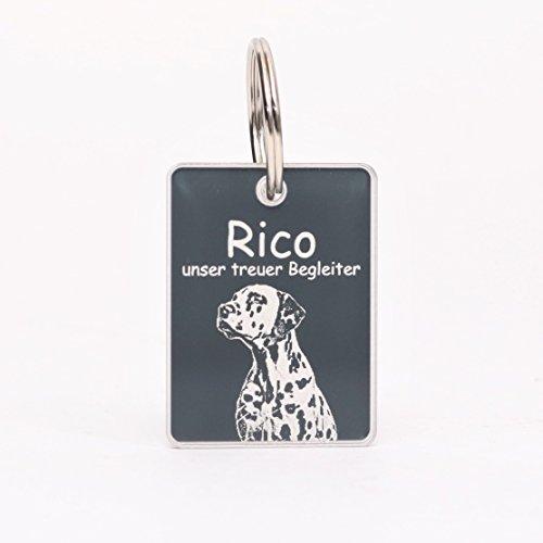 CHRISCK design Schlüsselanhänger mit individueller Gravur/Fotogravur aus Hochglanz Acryl Dog Tag/persönliches Andenken an die Liebsten für Hund, Katze, Pferd (Anhänger) (Katze Hund Gravierte)