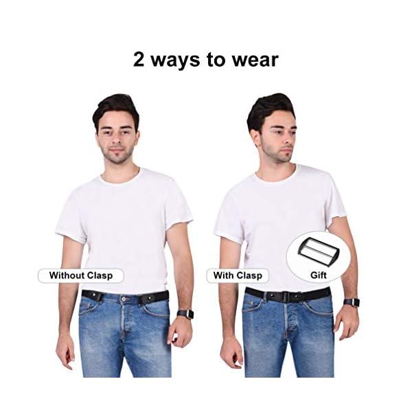 VBIGER Cintura Uomo Donna Cintura Senza Fibbia per Uomo Donna Cintura Uomo Elastica Jeans Larghezza 2 spesavip