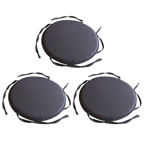 TOPmountain 3 Stück Runde Runde Bistro-Krawatte Küche mit Essbereich Stuhl Sitzkissen Kissen Möbel -