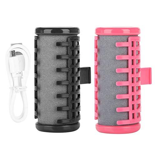 USB-wiederaufladbare drahtlose Lockenwickler Durchsichtige Pony-Haar-Styler-Mini-elektrische Lockenwickler (Color : Pink)