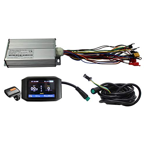 HalloMotor Exclusive Customized 36V 48V 60V 72V 1500W Intelligent Programmable 18 MOSFET 50A Controller with Colorful Display Color Screen TFT-750C Display e-Bike DIY Conversion Kits