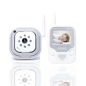 Duronic B101 /W Baby Monitor / Babyphone vidéo couleur sans fil avec vision nocturne - Portée de 250 mètres